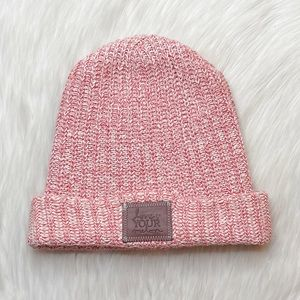 Love Your Melon Cuffed Style Red & White Hat